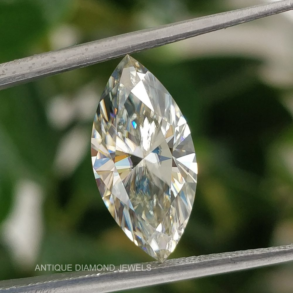 3.20 Ct Hypnotic Marquise Near Colorless Loose Moissanite | Customised Ring Engagement Wedding Pendant 15.95x7.83x4.90 Mm