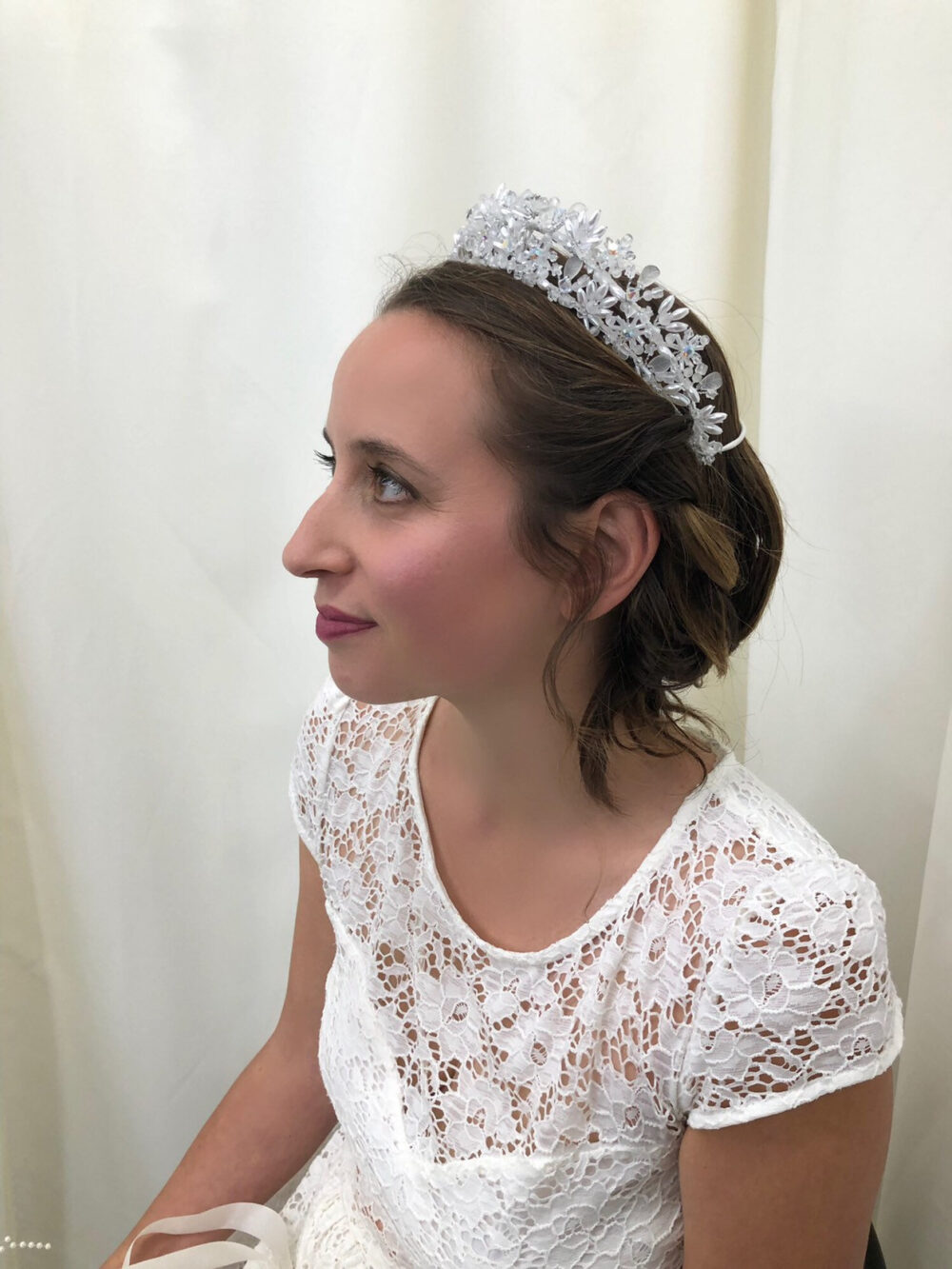 Beaded Wedding Tiara, Crown, Hair Accessory, Vintage Crown/Tiara, Bridal Sweet 16 Vintage