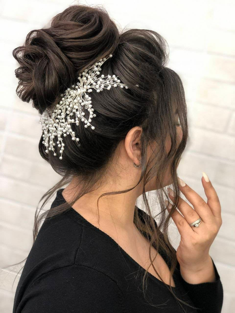 Bridal Hair Pin Pearl For High Bun/Wedding Accessories/Pearl Pins/Wedding Piece Pearl/Hair Clip Bun/Headpiece