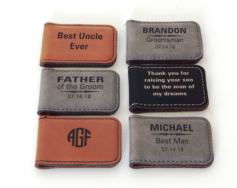 Personalized Money Clip Sets-Gift For Groomsmen-Gift Father Of The Groom-Brother-Uncle-Custom Wedding Gift-Magnetic Clip, Mc02