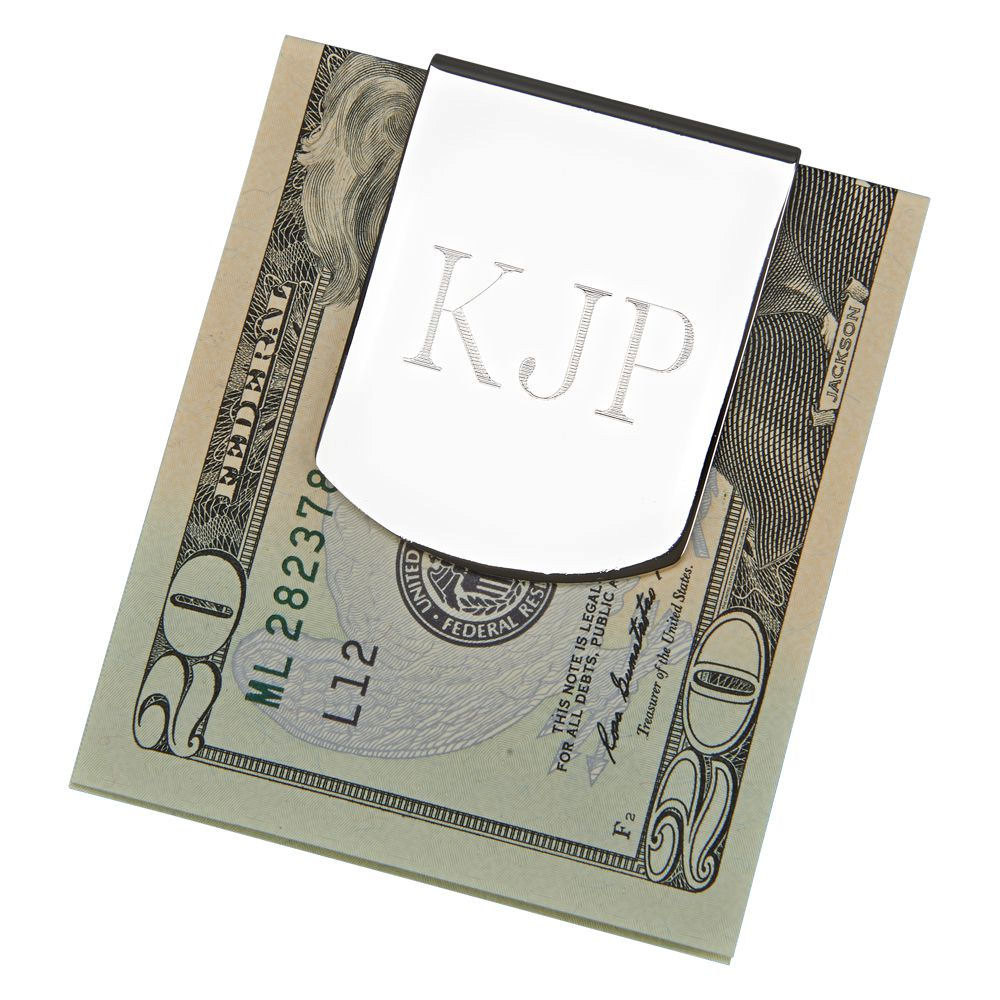 Personalized Money Clip Silver Tone Wider For Extra Folding Holding Power Stocking Stuffer Groomsmen Gifts Fathers Day