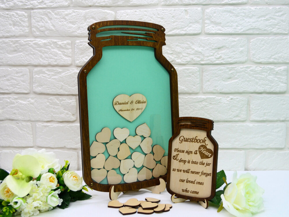 Alternative Wedding Guest Book, Book Wedding, Mason Jar Jar, Drop Box