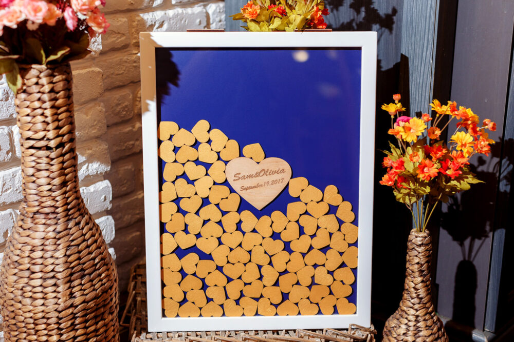 Guest Book Alternative Wedding White Guestbook Drop Box Mason Jar Guest Book Gold Hearts