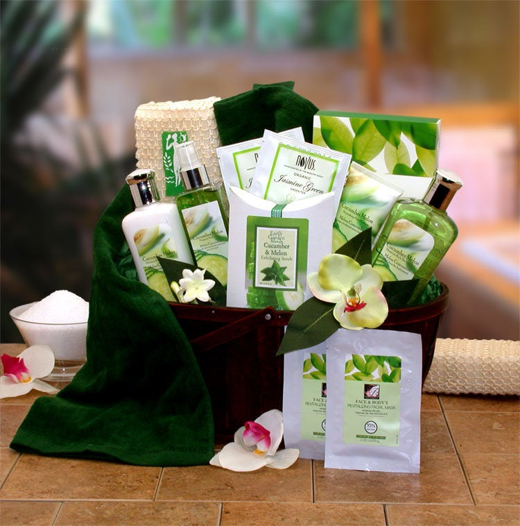 Women's Gift Baskets Spa Basket For Her Mother's Day Cucumber & Melon
