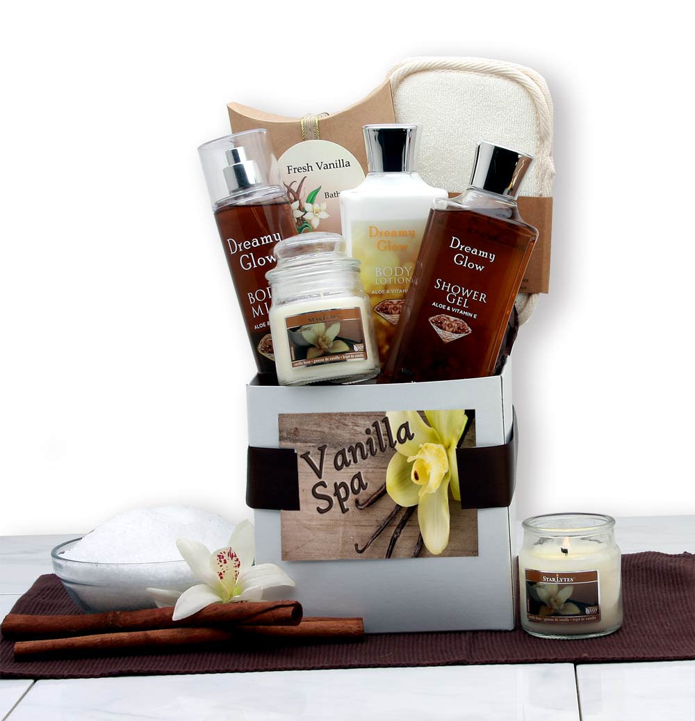 Women's Gift Baskets Spa Basket For Her Mother's Day Vanilla Care Package Ideas