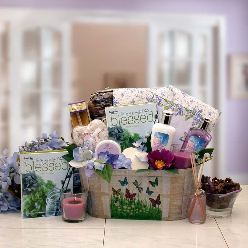 Women's Gift Baskets Spa Basket For Her So Serene Essentials Set with Book Mother's Day