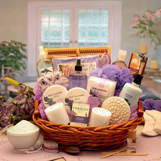 Women's Gift Baskets Spa Basket For Her The Essence Of Lavender Mother's Day