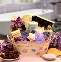 Women's Gift Baskets Spa Basket For Her Tranquility Bath & Body Mother's Day