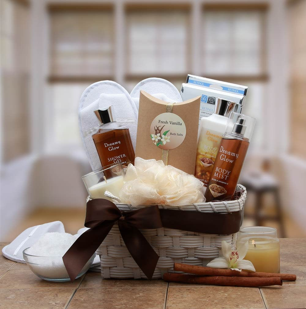 Women's Gift Baskets Spa Basket For Her Vanilla Mother's Day