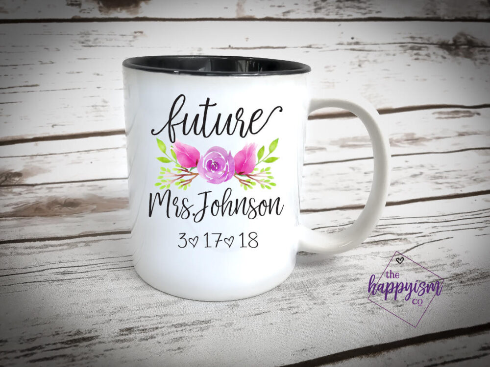 Sale Future Mrs Mug, Engagement Gift To Bride, Bride Be Mug, Future Mrs Gift, Cup, Bridal Engaged Mug