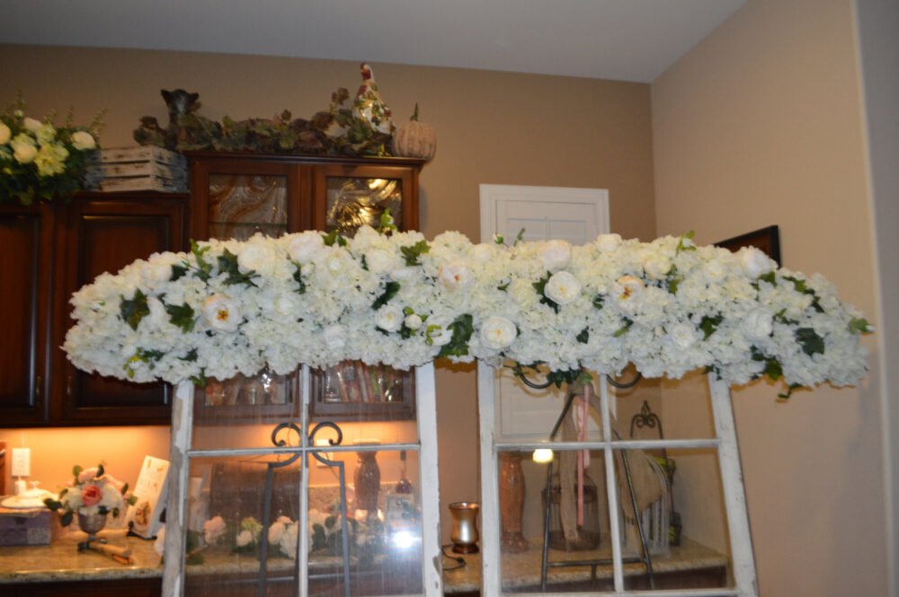 Wedding Arch, Archway Swag, Ceremony Arbor Church Floral Hydrangea