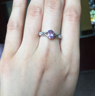 Natural Purple Amethyst, Ring, 925 Sterling Silver, Amethyst Engagement Ring, Ring, Women Gift Ring, Anniversary Ring, Gift For Her Bridal Ring