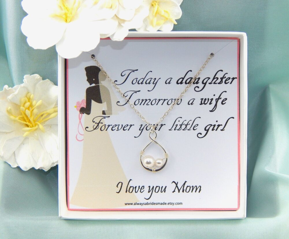 Mother Of The Bride Necklace Gift, Mother Of The Necklace, Mother Wedding Gift Box