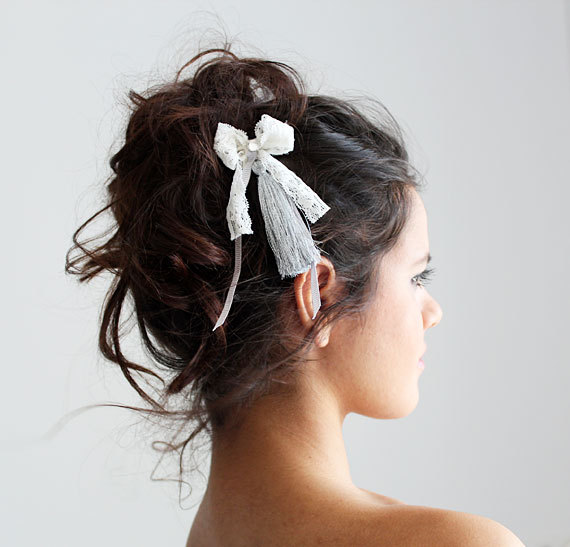 Wedding Lace Hair Comb, Bridesmaid Headpiece, For Bride Hairpiece, Halo Pin, Band Accessories