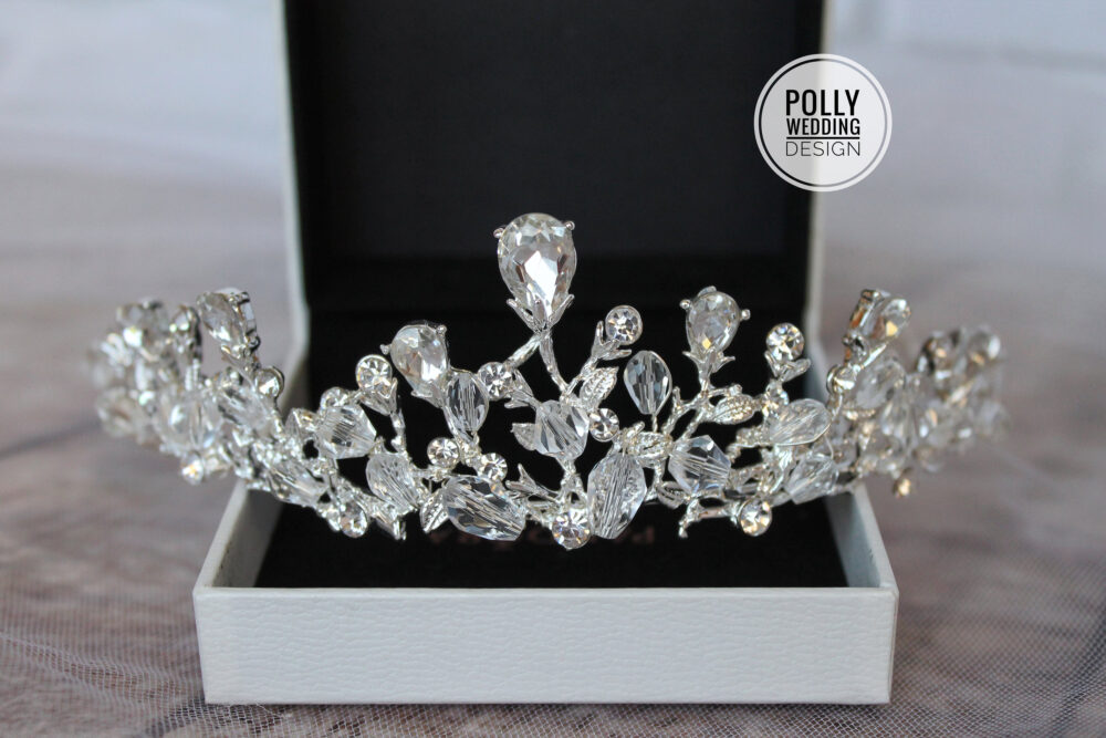 Bridal, Sirver Tiara, Crystal Tiara, Bridal Wedding Crown, Rhinestone Tiara, Wedding Tiara, Diamante Crown, Silver Crown