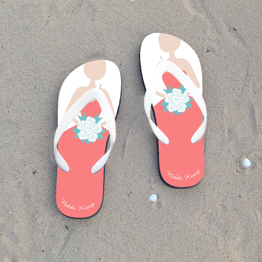 Bridesmaids Flip Flops, Gift For Bridesmaid, Sister, Mother Of Groom, Bride Flops, Bridal Flops, Mother The Flops