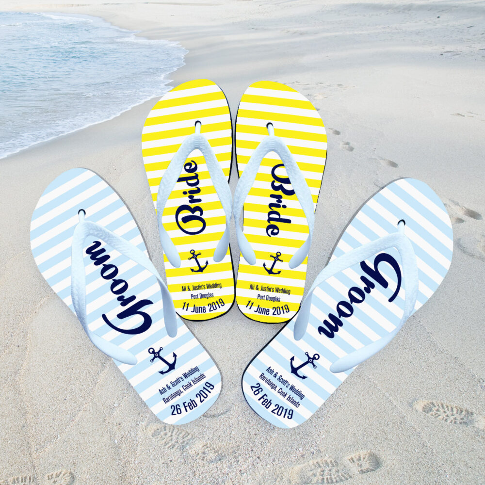 Gift For Couple Just Married, Just Married Flip Flops , Custom Flop, Personalized , Flip Wedding