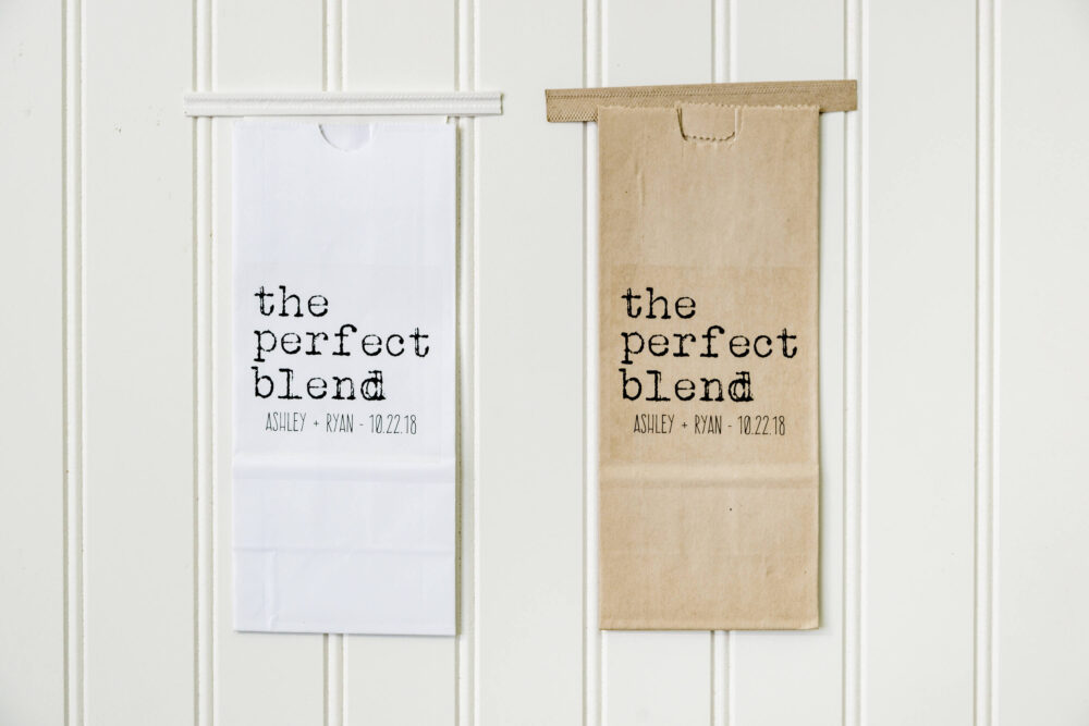 The Perfect Blend Tin Tie Wedding Favor Bag-Coffee Favors For Wedding, Tea Party, Tin Bag, Bridal Shower Favor, Coffee Bags