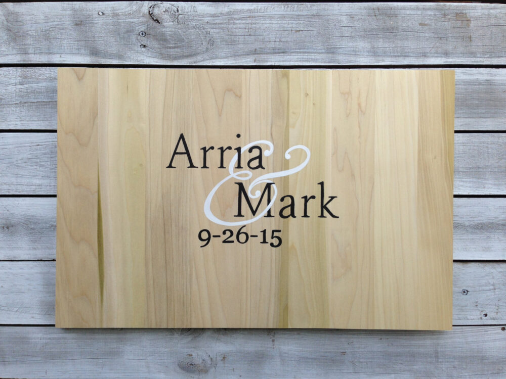 Newlywed Gift Rustic Guest Book Idea, Wedding Guestbook Alternative Wood Sign With Matching Pen. Gift Idea