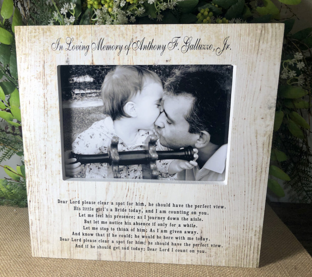 Personalized in Loving Memory Dad/ Wedding Picture/ Frame Rustic Light Wood/ Sign/ Father Of The Bride/ Barn