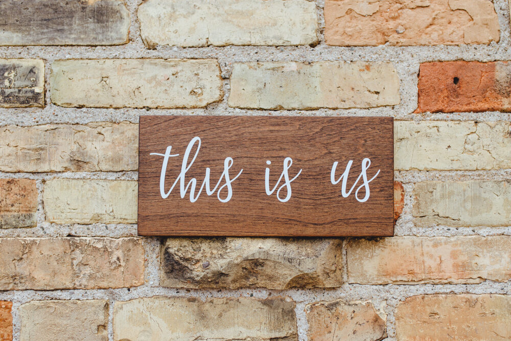 This Is Us Sign, Wedding Rustic Theme Wood Sign