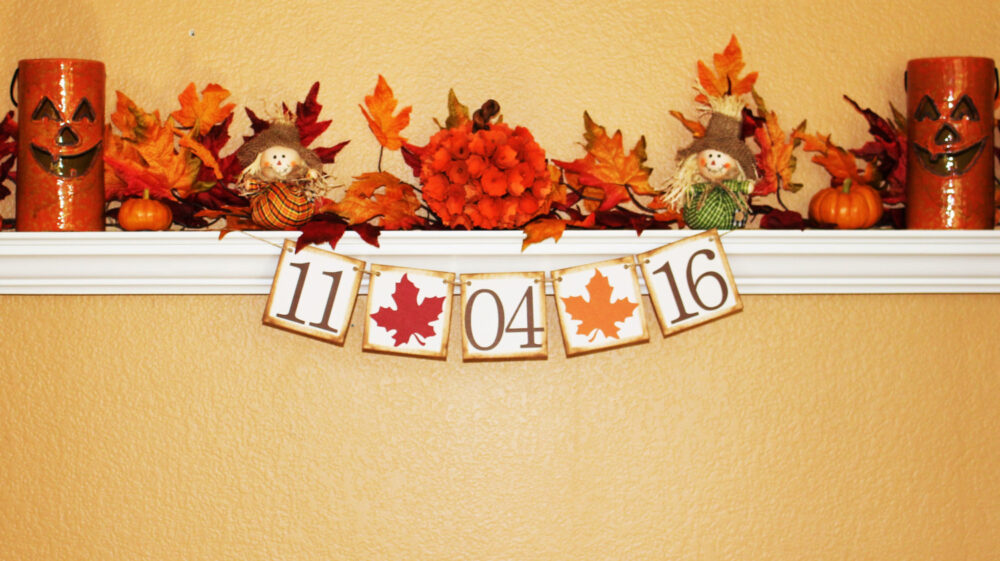 Fall Wedding Banner, Save The Date Photo Prop, Fall Engagement Banner, Garland, Wedding Decor, The Banner