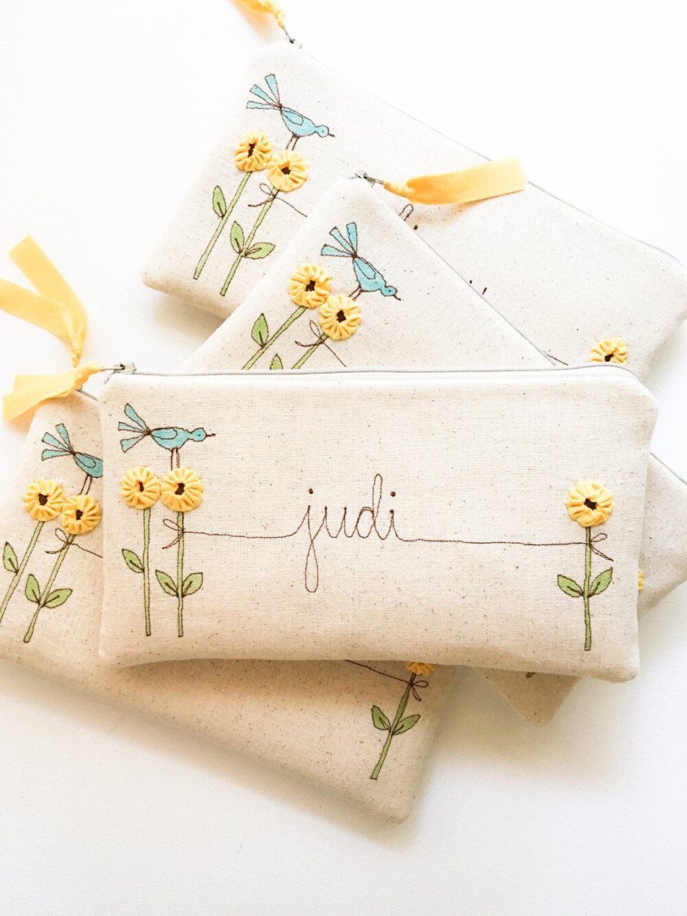 Sunflower Wedding, Personalized Bridesmaid Gift, Rustic Wedding Party Gifts, Yellow, Clutch, Gift For Women, Floral, Ideas