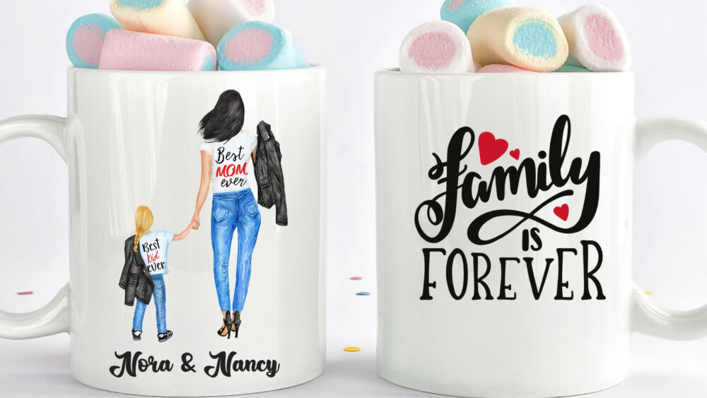 Custom Mother & Kid Mug, Mug For Mother, Gift Son , Mom Gift, Mother, Mother Mug Dad Mug Family