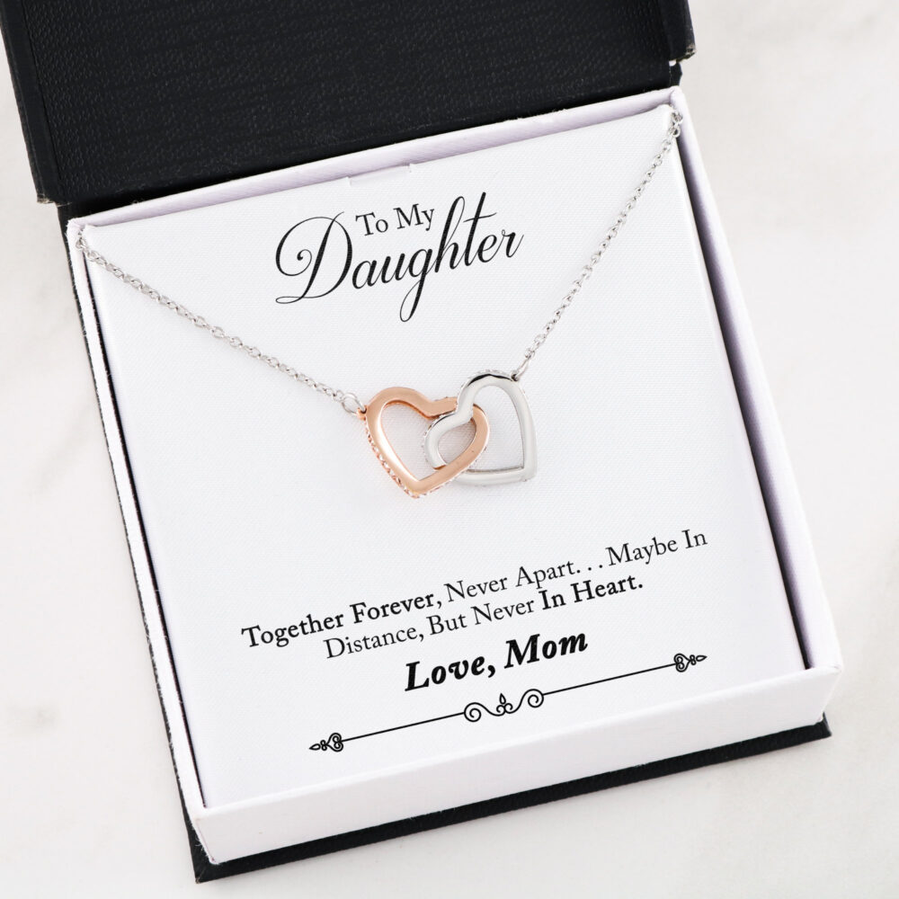 Daughter Necklace, Mother Daughter, Gift, Gift For Daughter, Distance Never in Heart, Mother Gift, Mother Necklace41D