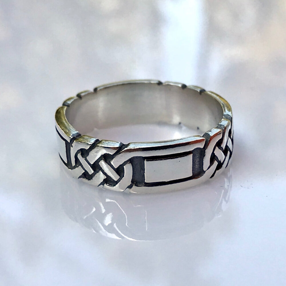 Celtic Knot Band, Ring, Celtic Wedding Rings, Handmade Sterling Silver Band Ring, Gift For Him, Fathers Day