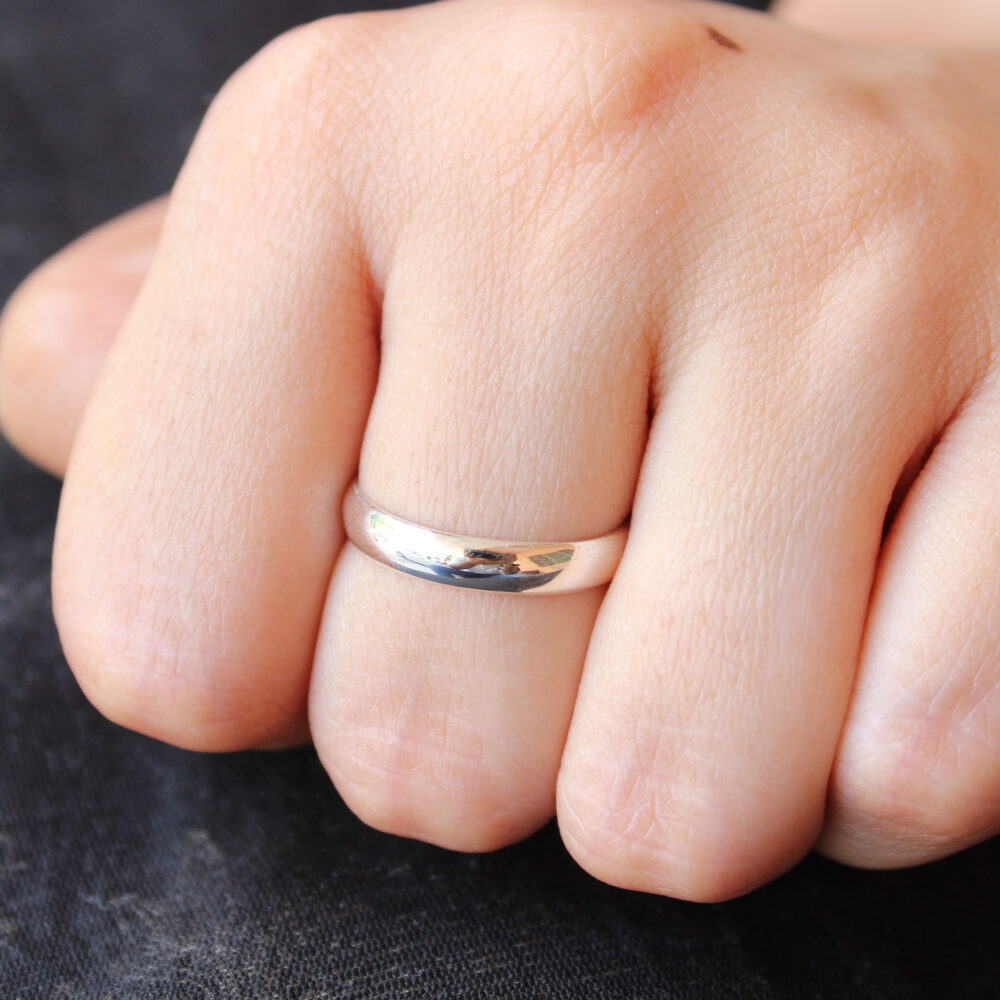 Silver Band, Propose Ring, Promise Sterling Handmade Thumb Wedding Band Affordable Jewelry, Plain Bands, Gift For Her