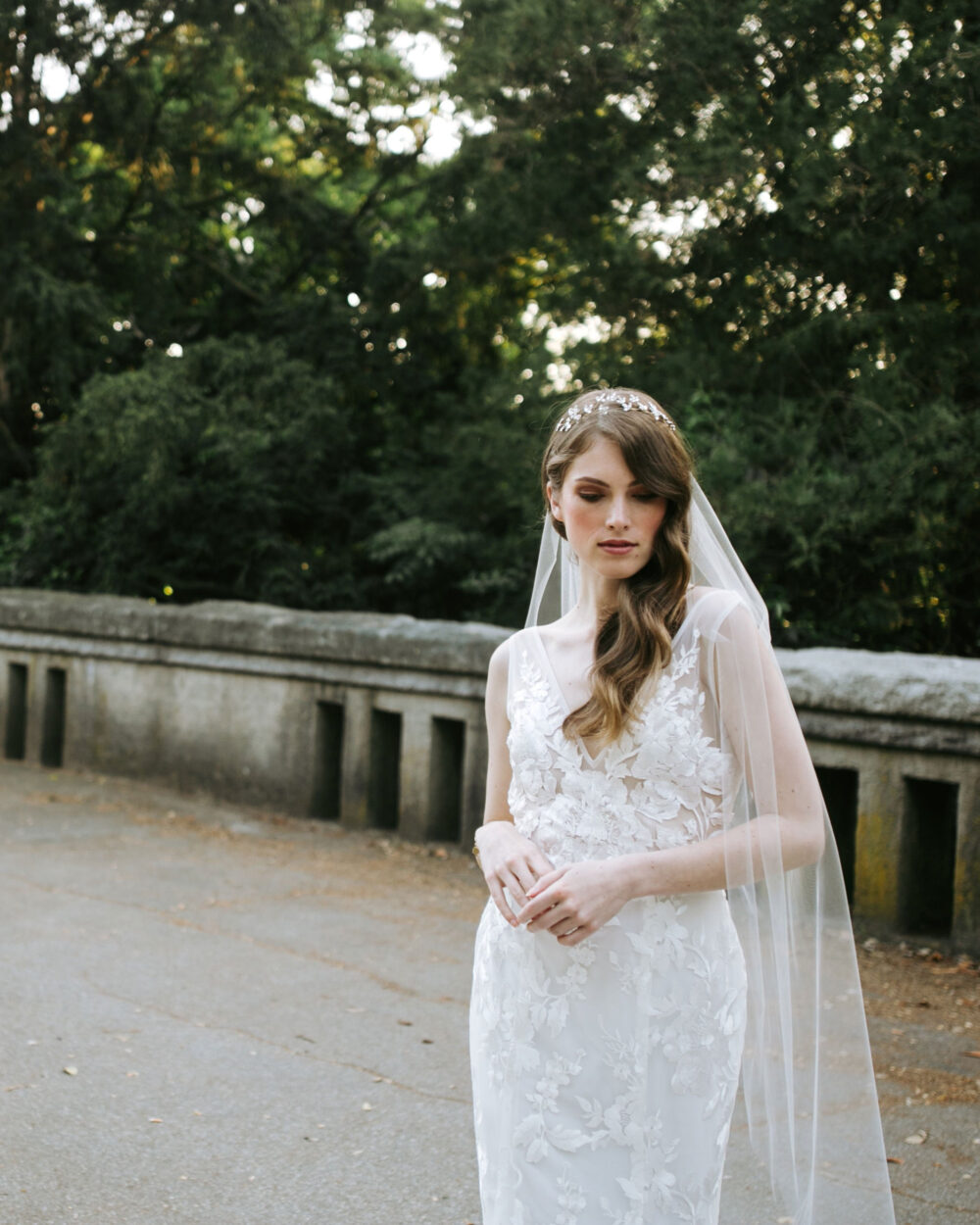Lily Fingertip Veil • Soft Tulle Ready To Ship Simple Bridal