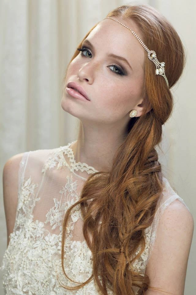 Boho Bridal Headband , Hairband Bohemian Headpiece Head Piece Rhinestone Forehead Headband Headpiece Wedding