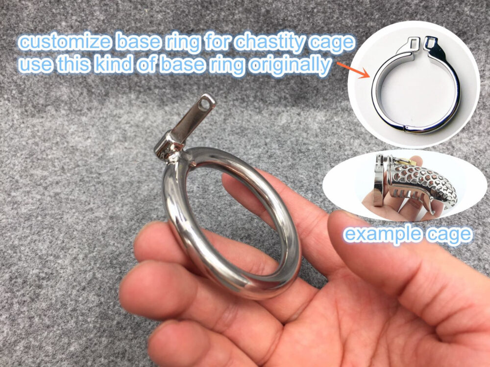 Customize Base Ring For Chastity Cage Use Square Pin To Lock