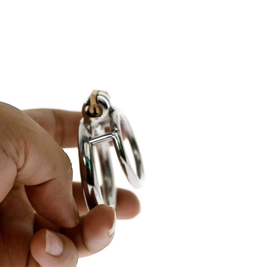 Chastity Training Ring - Cock With Lock Stainless Steel For Beginner