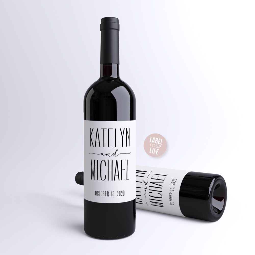 Wedding Favor Wine Labels, Thank You, Unique Gift, Custom & Champagne Engagement Party Favor