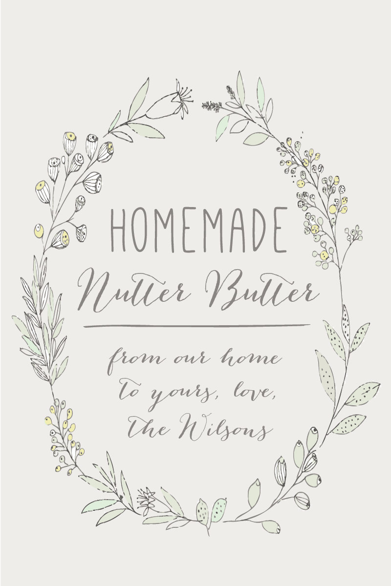 """Homemade Favor Labels 