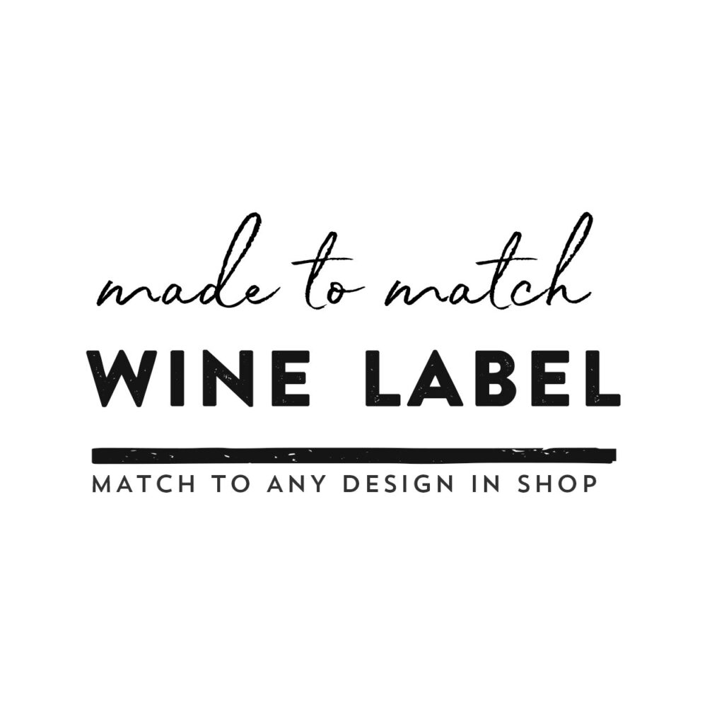 Made-To-Match // Digital Printable Wine Label, Bottle Labels, Wedding Champagne Favor Labels Match To Any Design