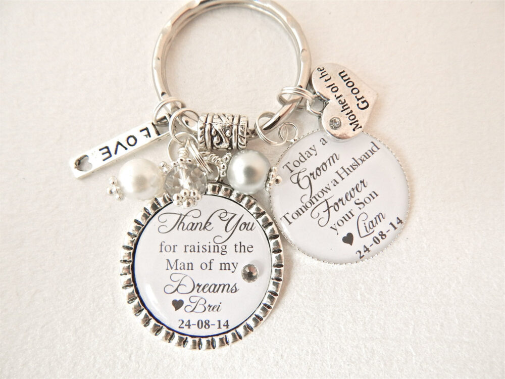 Personalized Mother Of The Groom Gift-Gift From Bride & Groom-Personalized Wedding Jewelry-Bridal Jewelrythank You Gift