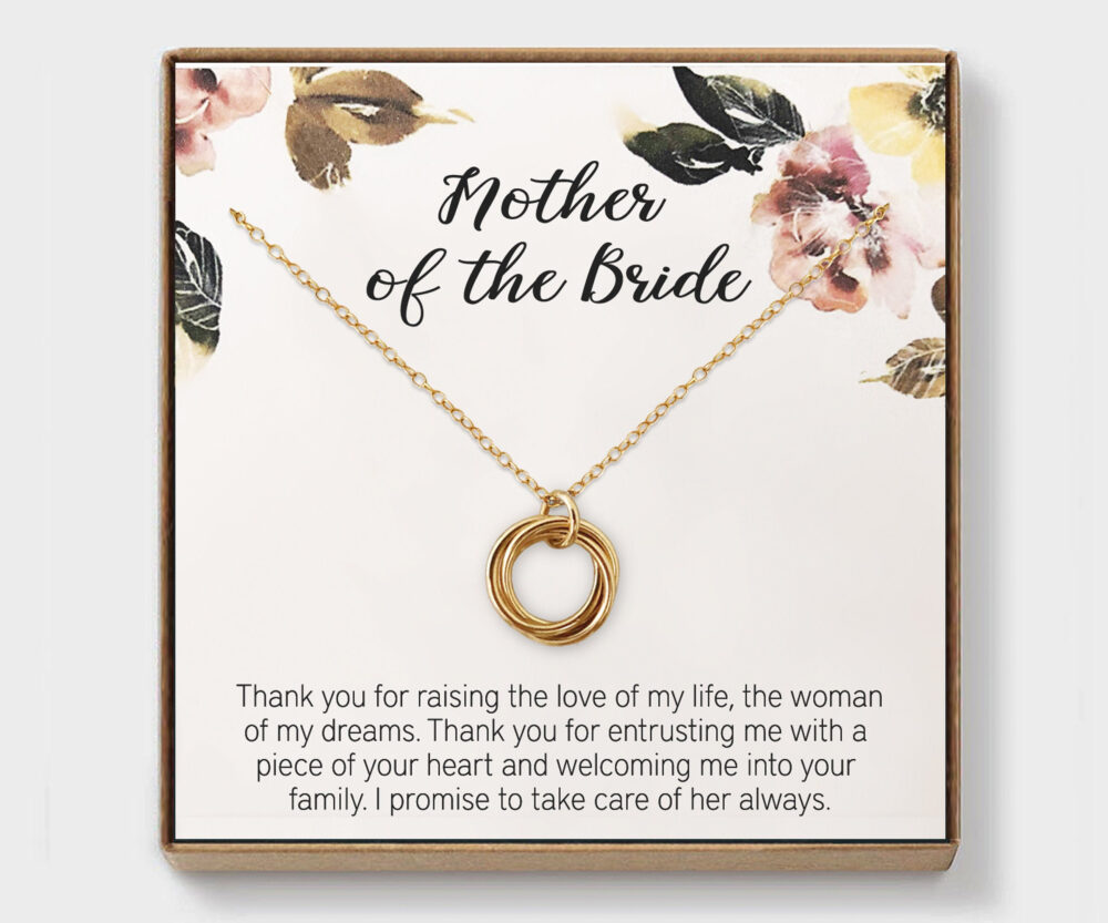 Mother Of The Bride, Wedding Gift, Mothers Day Best in Law, Bonus Mom, Other Mother, Of The Bride Gold Necklace