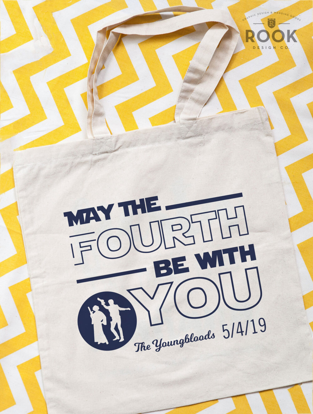 May The Fourth Be With You Tote Bags, Funny Star Wars Wedding Gift, Totes, 4Th Favors, Bags