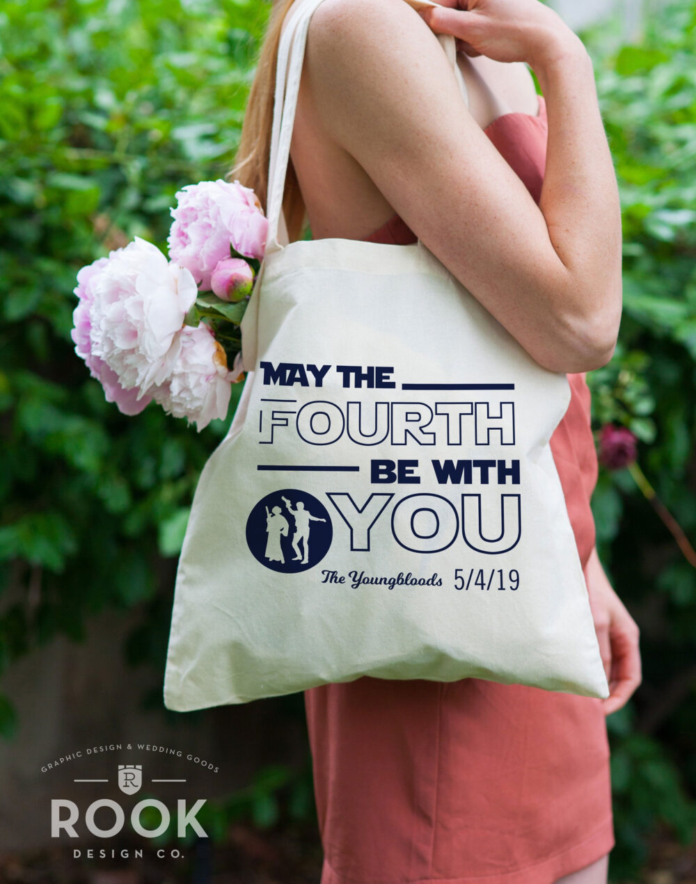 May The Fourth Be With You Tote Bags, Funny Star Wars Wedding Gift, Princess Leia Tote, Hans Solo Bag, 4Th Wedding, Totes