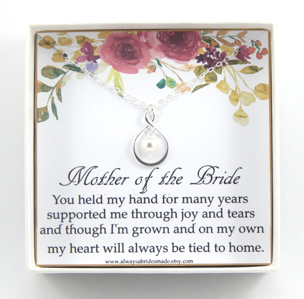 Mother Of The Bride Gift, Mother Of The Necklace, Mother Gift Box Bride, Wedding Gift For