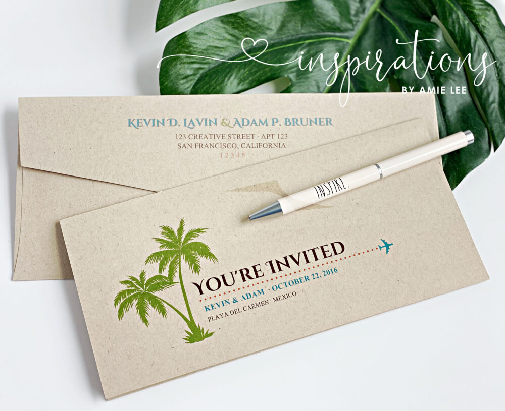 Boarding Pass Wedding Invitations, Destination Wedding, Pass, Airplane Ticket, Florida