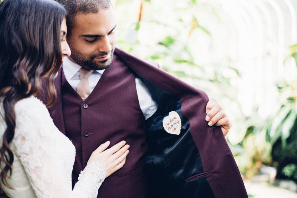 Secret Message. Groom Gift From Bride. Personalized Wedding Tie Patch. Gift