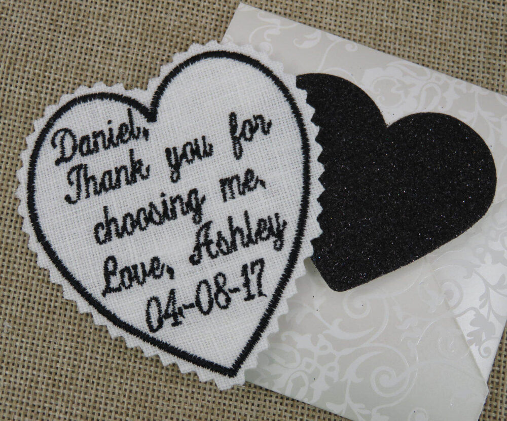 Embroidered Wedding Tie Patch, Bride Gift To Groom On Day - For Or For Father Of The Or