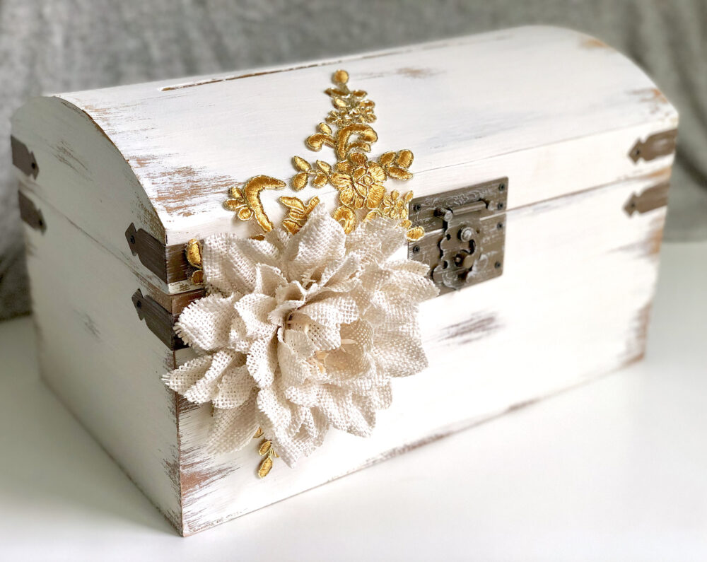 Rustic Card Box, Money Box, Large Wedding Holder, Box With Slot