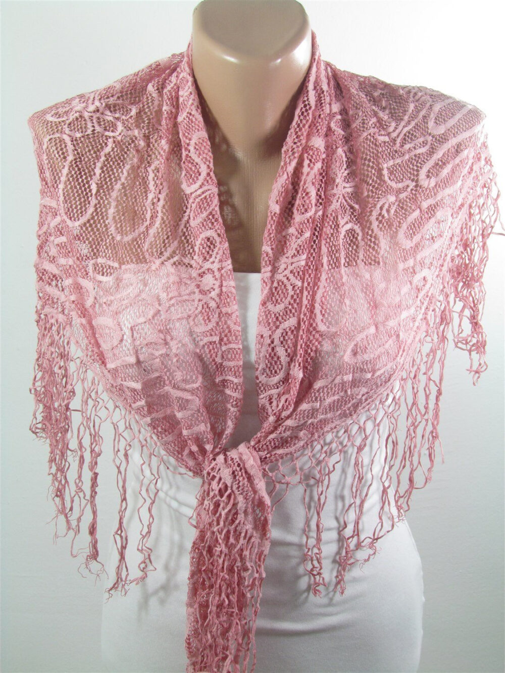 Pink Bridal Scarf Lace Shawl Wedding Wrap For Bridesmaids Gifts - Accessories Women Unique Gift For Women