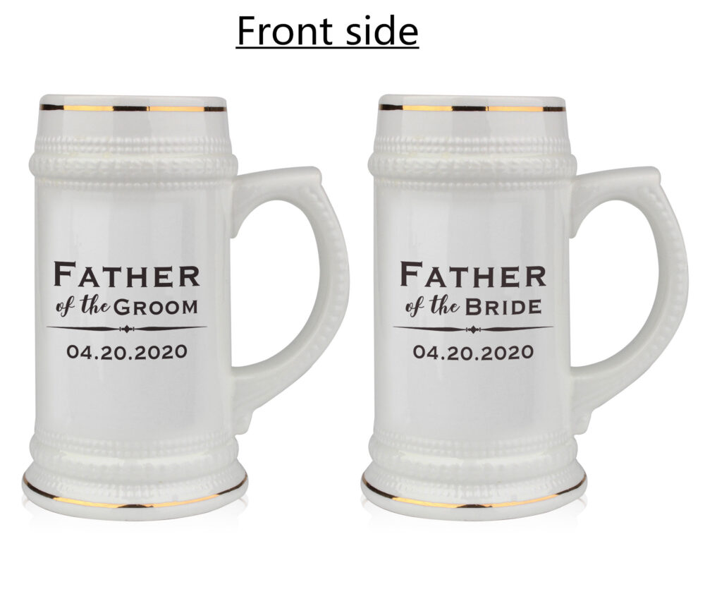 Father Of The Groom Gift, Dad Personalized Beer Mug, Dad, Wedding Custom Stein, Fathers Gift, Caricature Free Shipping