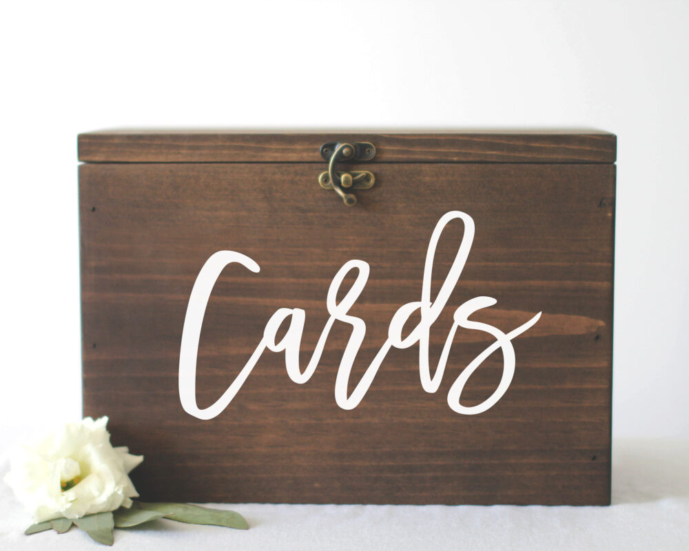 Locked Wedding Card Box | Money Rustic Card Box Holder With Slot